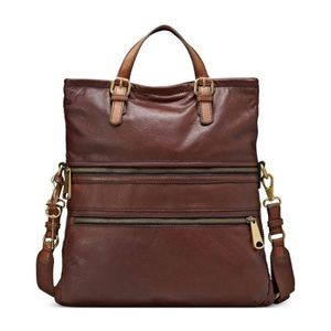 """Fossil """"Explorer Fold-Over Tote"""" Convertible Bag"""